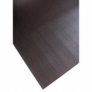 Anti-slip Floor Mat, Black, Vinyl, 150 ft. x 3 ft., 1 EA