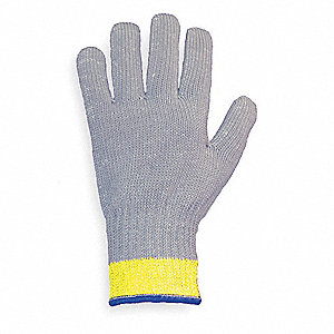 Uncoated Cut Resistant Glove, ANSI/ISEA Cut Level 4, Dyneema® Lining, Gray, XS, EA 1
