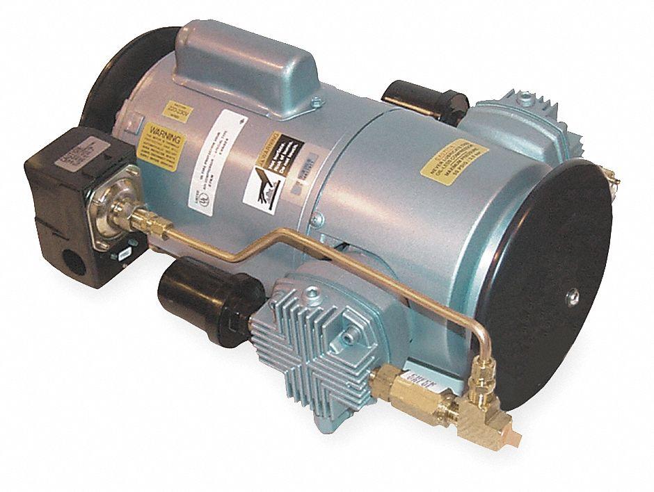 Gast piston air compressor 1hp 115 230v 1ph 3hdg8 6lcf for Gast air motor distributors