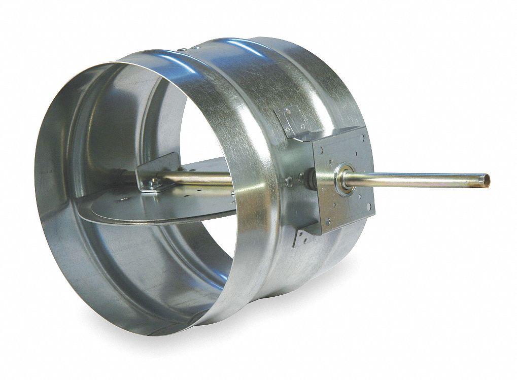 Volume Control Damper : Dayton volume control damper quot d duct dia hgn