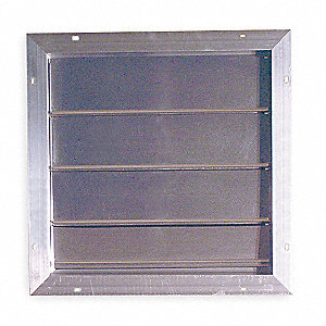 "16"" Backdraft Damper / Gable Shutter, 17"" x 17"" Opening Required"
