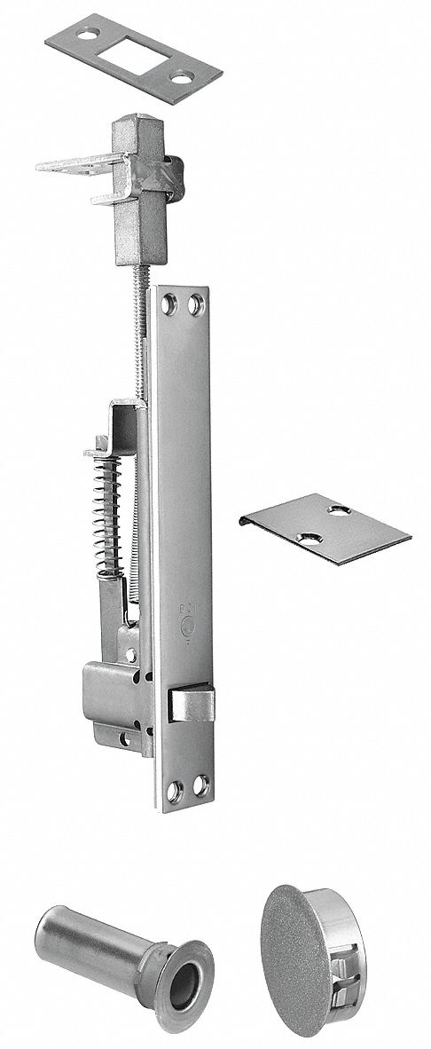 Rockwood Automatic Flush Bolt Satin Chrome 3hjd4 2848