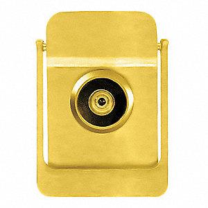 Rockwood door knocker w viewer polished brass 3hjh5 614v 3 grainger - Brass door knocker with viewer ...