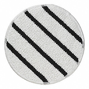 "17"" White Carpet Bonnet, Microfiber"