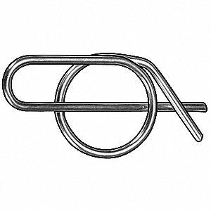 Cotter Pin,Zinc,1/2x1.420 In,PK100