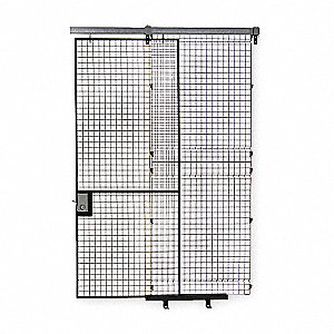 Electrostatic Polyurethane Wire Partition Sliding Door, 1 EA
