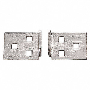 "Conventional Fixed Staple Corner Hasp, 5-3/16"" Length, Steel, Zinc Plated Finish"