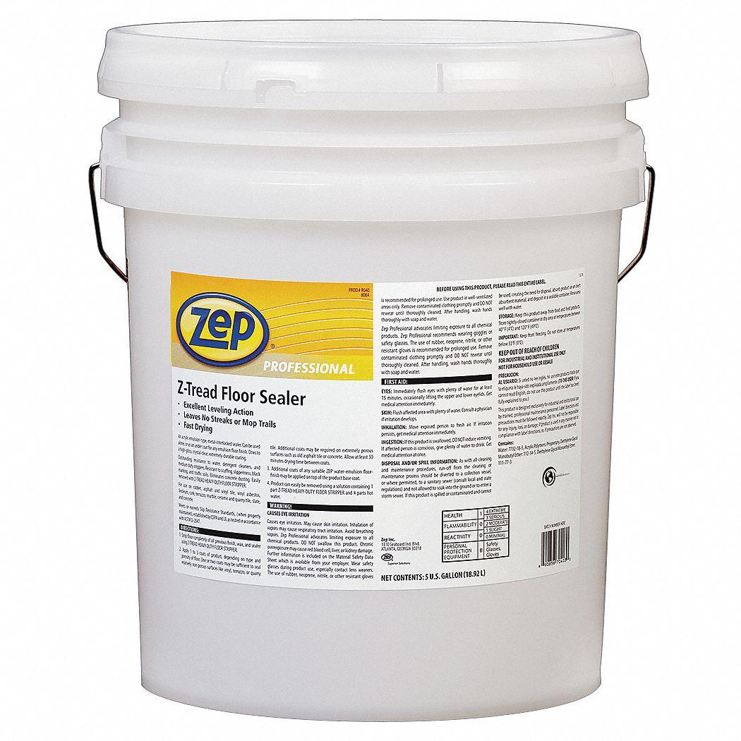 Zep professional floor sealer 5 gal 20 to 30 min 3hur8 for Heavy duty concrete floor cleaner