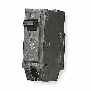 Plug In Circuit Breaker, THQL, Number of Poles 1, 20 Amps, 120/240VAC, Standard