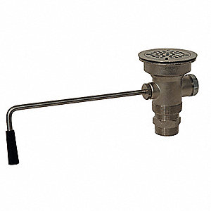 Brass Lever Drain For Use With Advance Tabco Utility Sinks