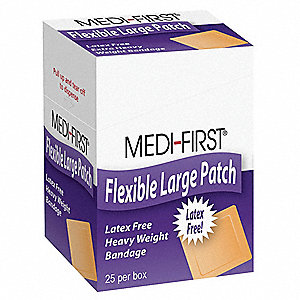 Bandage,Fabric,Box,3 In L,PK25