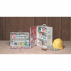 First Aid Kit,Bulk,White,21 Pcs,100 Ppl