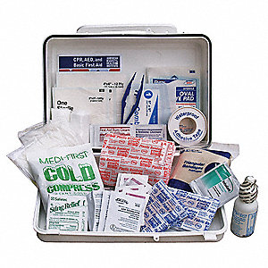 First Aid Kit,Bulk,White,22 Pcs,25 Ppl