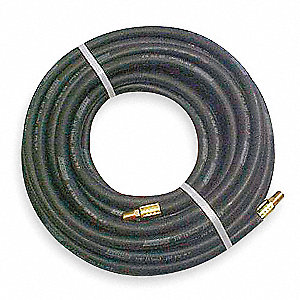 Hose,Air,1/4 In ID x 1/4 NPT,50 Ft,Black