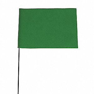 Grainger Approved Marking Flag Fluor Green Vinyl Pk100 3juy5 3juy5 Grainger