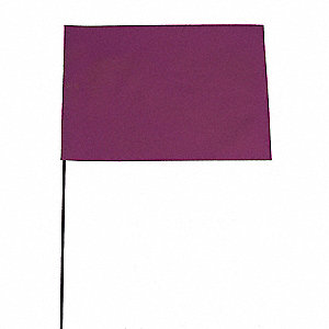 "Purple Marking Flag, 4"" Flag Height, Solid Pattern, Blank"