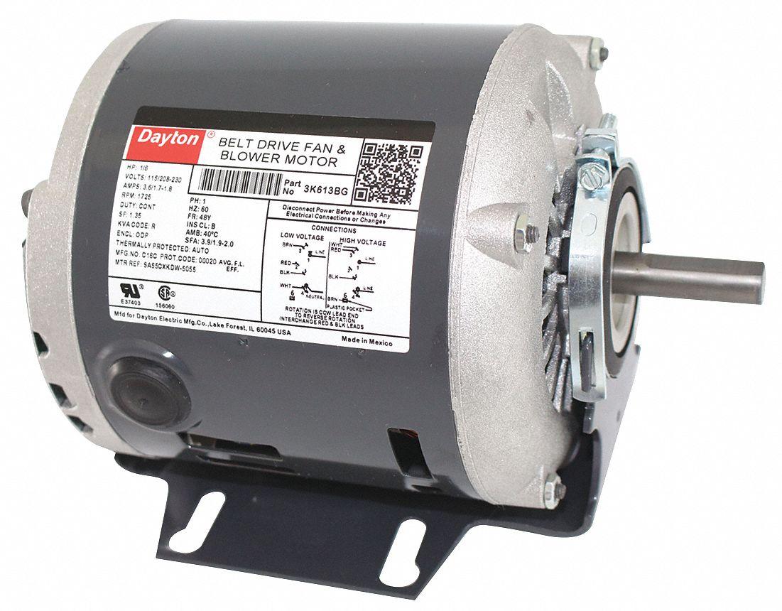 Dayton Direct Drive Fan Motor : Dayton hp belt drive motor split phase