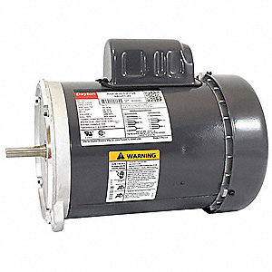 3/4 HP Auger Drive Motor,Capacitor-Start,1725 Nameplate RPM,115/230 Voltage,Frame 56YZ