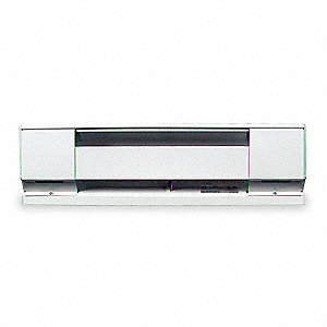 Electric Baseboard Heater, Commercial, Voltage 208/240/277, Amps AC 9.0/7.5/6.8, 1 Phase