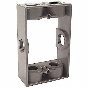 Bell weatherproof electrical box 1 gang 6 inlet - Sealing exterior electrical boxes ...