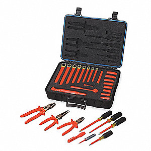 "Insulated Tool Set, Number of Pieces: 30, 3/8"" Drive Size"