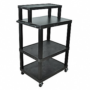Mobile Workstation,32 x 54 x 24 In,Black