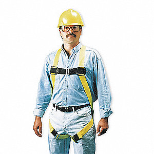Full Body Harness,S/M,400 lb.,Blk/Ylw