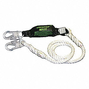 Shock-Absorbing Lanyard,Nylon,White