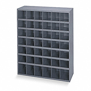 "Pigeonhole Bin Unit, 42"" Overall Height, 33-3/4"" Overall Width, Total Number of Bins 42"