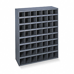 "Pigeonhole Bin Unit, 42"" Overall Height, 33-3/4"" Overall Width, Total Number of Bins 56"
