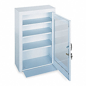 Empty First Aid Cabinet,Steel,White