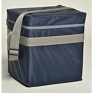 Transport Cooler,Nylon,Blue,10-1/2 In W