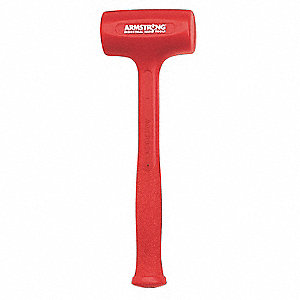 Hot-Cast Urethane Dead Blow Hammer,10 oz. Head Weight,Urethane with Steel Reinforcement Handle Mater