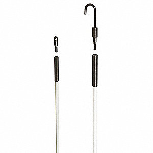 Cable Pulling Fishing Pole,3/16 In,30 ft