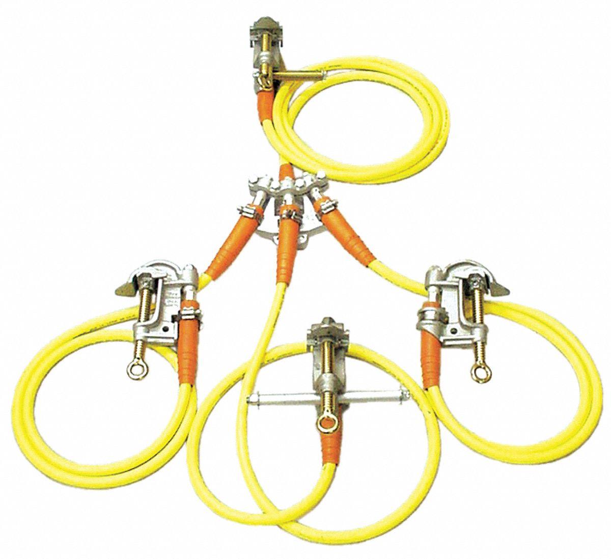 High Voltage Grounding Stick : Salisbury four way grounding set kuy grainger
