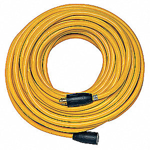 Indoor/Outdoor Extension Cord, 100 ft. Cord Length, 12/3 Gauge/Conductor, 15 Max. Amps