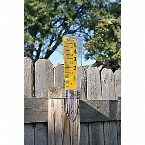 Rain Gauge,0 to 5 in.,Polycarbonate