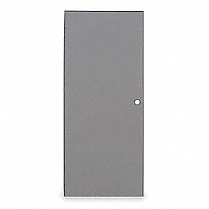 Flush Steel Door,80x48 In,Cylindrical