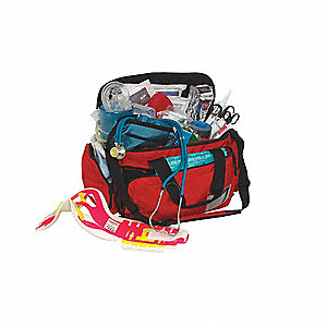 ALS Kit with Bag,22 L x13 W x10 In H,Red