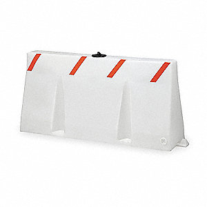Polycade Traffic Barrier,White,35 In. H