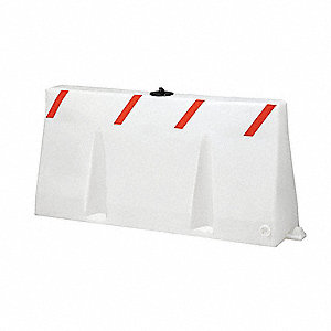 Polycade Traffic Barrier,White,24 In. H