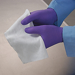 "Cleanroom Wipe, 12"" x 12"", 75 Wipes per Container, 1 EA"