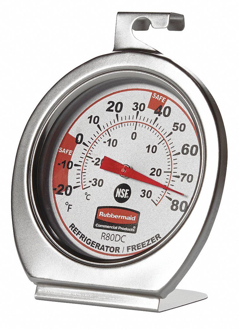 rubbermaid analog refrigerator freezer thermometer 20. Black Bedroom Furniture Sets. Home Design Ideas