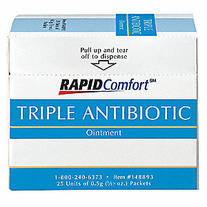 Triple Antibiotic Ointment, Application: Itch Relief, Size: 0.03 oz., Packet Package Type