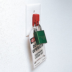 Wall Switch Lockout,Red,11/32 In. Dia.