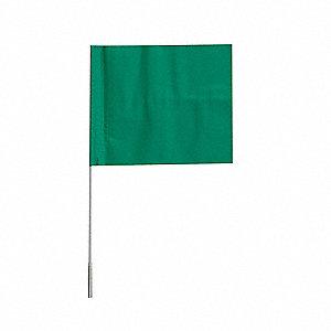 Grainger Approved Marking Flag Green Blank Vinyl Pk100 3lvh8 3lvh8 Grainger