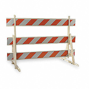 Type 3 Barricade,Orange/White,60 In. H