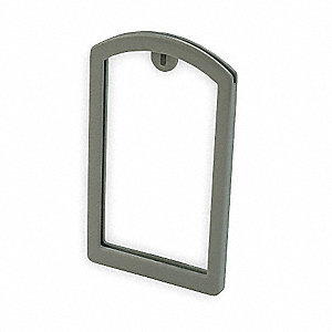 Label Pocket Frame,Pocket Recess,Gray