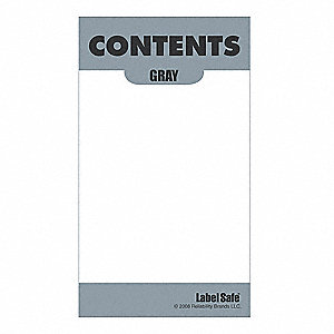 Content Label,3-1/2 In. H,2 In. W
