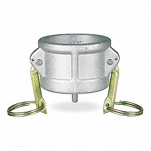316 Stainless Steel Dust Cap, Coupling Type DC, Female Coupler Connection Type